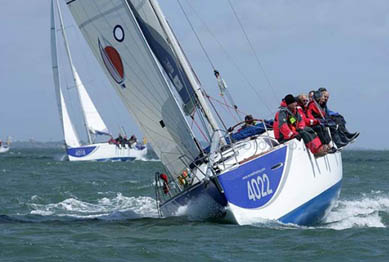 Inshore racing in the Inter Departmental Offshore Regatta